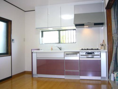 床暖房のあるキッチンに改装